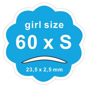 "Schlupflid Tape ""girl size"" (S) [2x60Paar] Doppelpack"