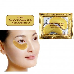 Golden Eye Collagen Augen Maske - Top Tipp gegen Tränensäcke 10er Set