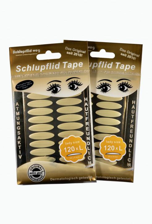 """Schlupflid Tape® """"lady size"""" (Größe L) [240 Stück] im Doppelpack - transparent"""