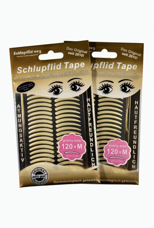 """Schlupflid Tape® """"pretty size"""" (Größe M) [240 Stück] im Doppelpack - transparent"""