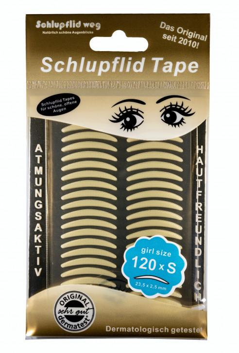 """Schlupflid Tape® """"girl size"""" (Größe S) [120 Stück] - transparent"""