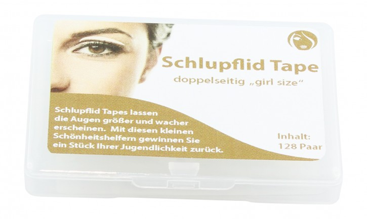 """SCHLUPFLID TAPE® doppelseitig 128 Paar """"Größe S - girl size"""""""