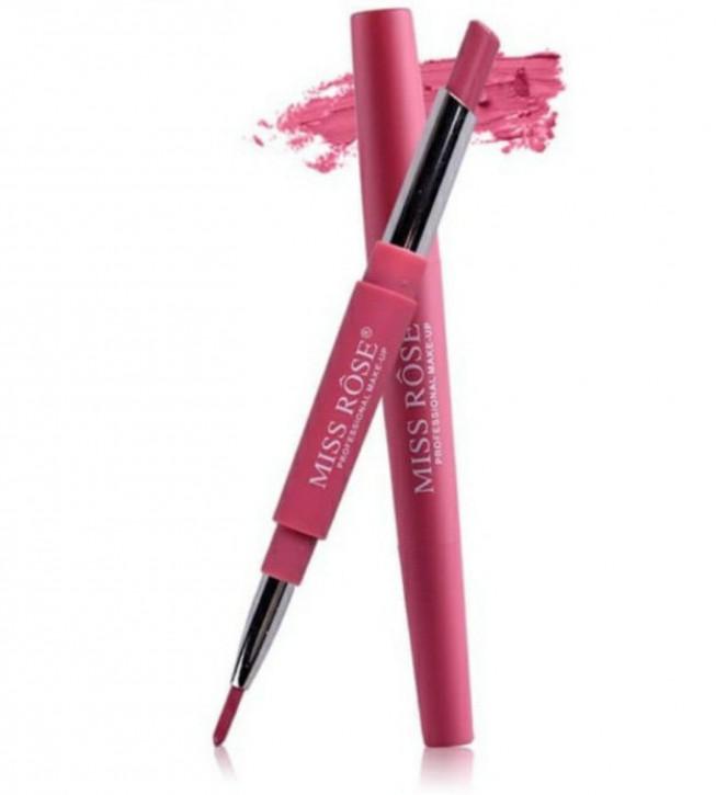 MISS ROSE® Lipliner 2in1 Lipstick (Flash of Pink 03) Lippenstift - Lippenkonturliner